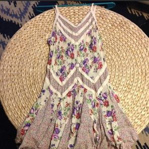 Free People floral slip dress
